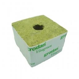 Laine de Roche GRODAN VITA Cube10x10x6.5cm Petit Trou (unité)