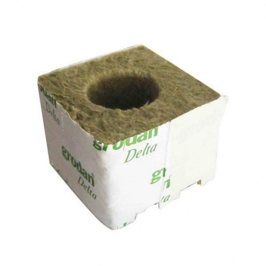 Laine de Roche GRODAN Cube 7.5x7.5x6.5cm Trou 40mm (unité)