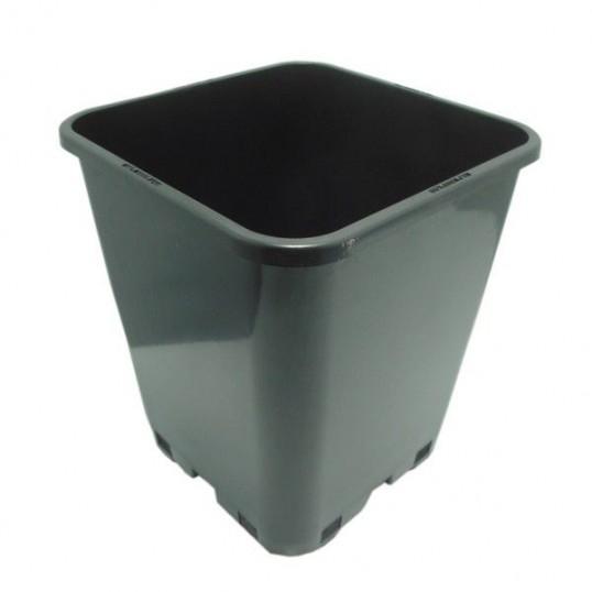 Pot Carré Noir Pro 6 L 18x18x23cm