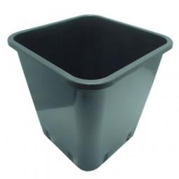 Pot Carré Noir Pro 11 L 22x22x26cm